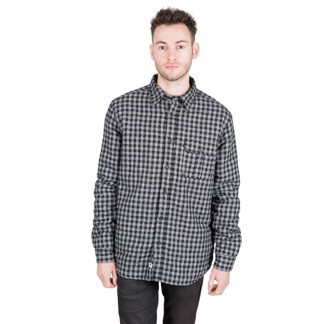 Sheedacallee Men's Checked Cotton Shirt in Black
