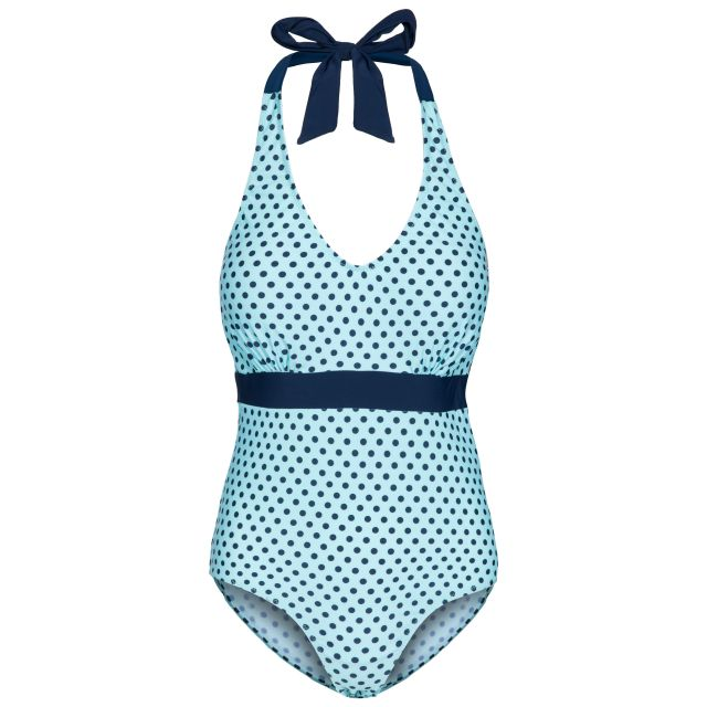 Sheila Women's Halterneck Swimming Costume in Light Blue