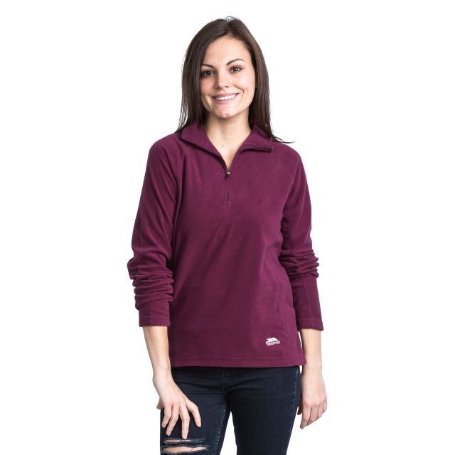 Shiner Women's Half Zip Microfleece in Burgundy