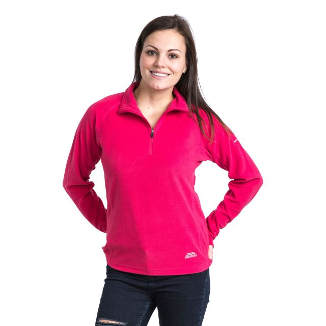 Shiner Women's Half Zip Microfleece in Pink