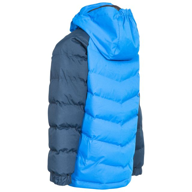 Sidespin Boys' Padded Casual Jacket in Navy