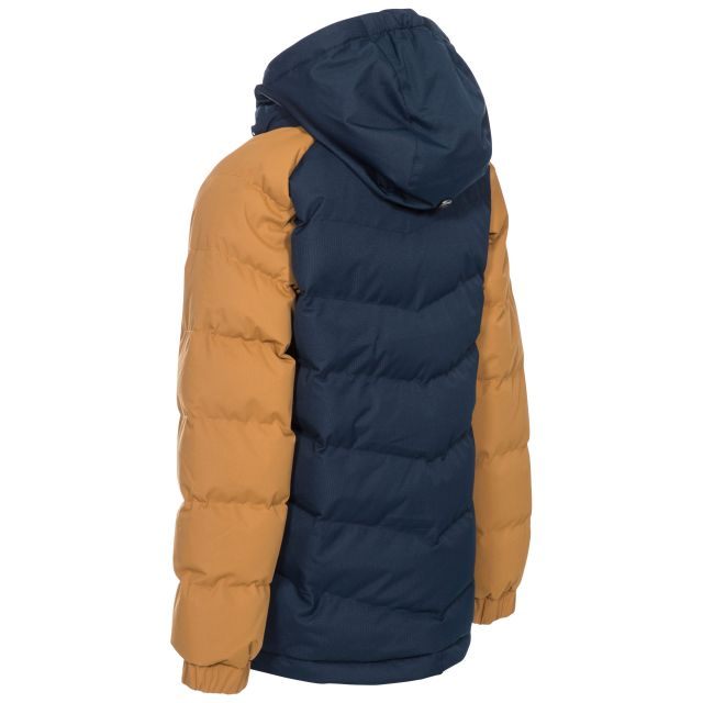 Sidespin Boys' Padded Casual Jacket in Beige