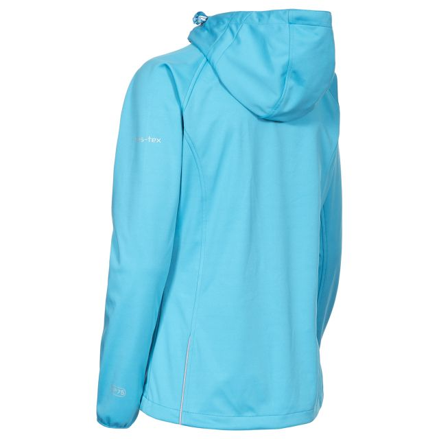 Sisely Women's Hooded Softshell Jacket in Blue