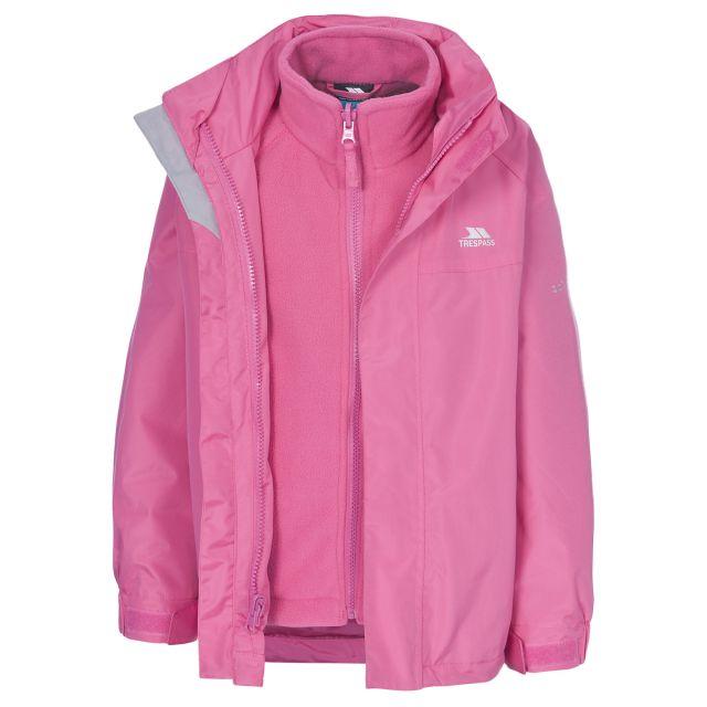 Skydive Kids' 3-in-1 Waterproof Jacket in Pink
