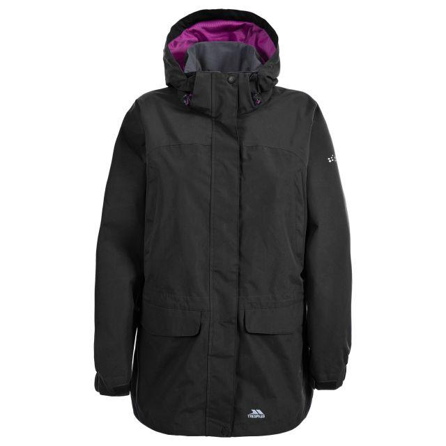 Skyrise Women's Hooded Waterproof Jacket in Black