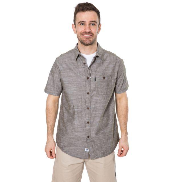 Slapton P Men's Short Sleeved Shirt in Khaki