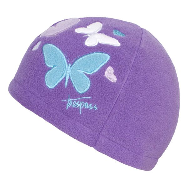 Flooty Kids' Fleece Beanie Hat in Light Purple