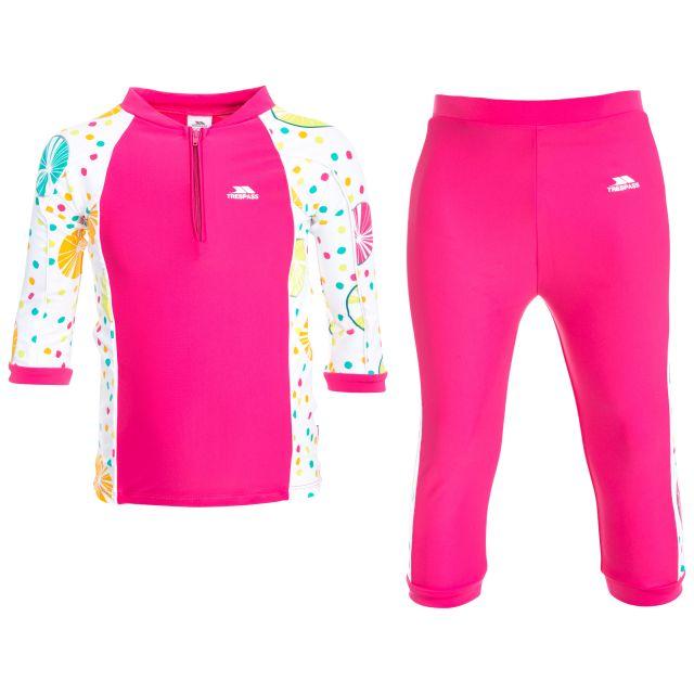 Smiley Kids' Swim Set in Pink