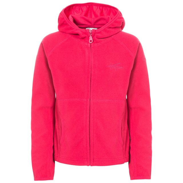SNOZZLE Girls Full Zip Fleece Hoodie in Pink