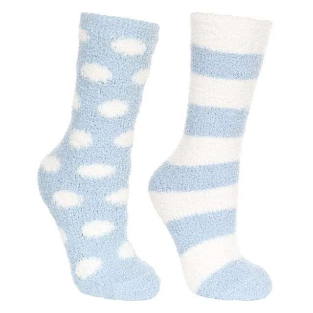 Snuggie Women's Fluffy Slipper Socks in Blue