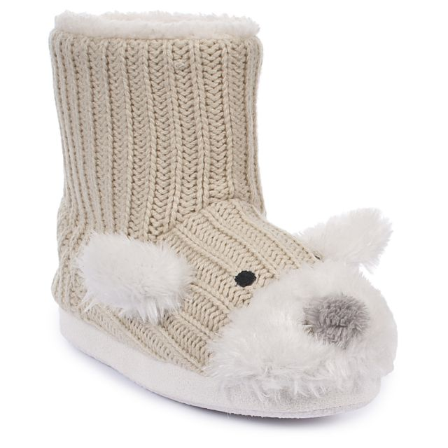 SOOTIE Girls Slipper Boots in Beige