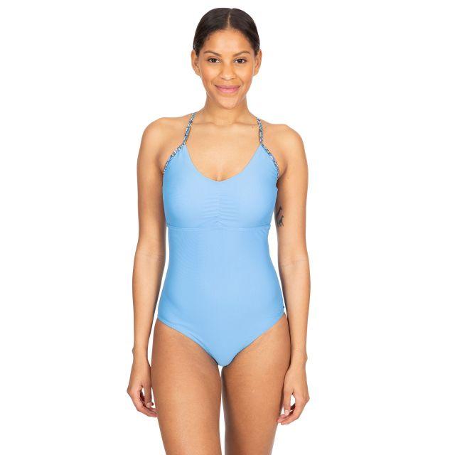 Sophia Women's Printed Swimming Costume in Light Blue