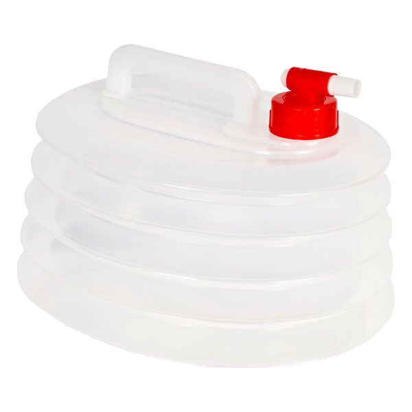 6 Litre Collapsible Camping Water Carrier in White