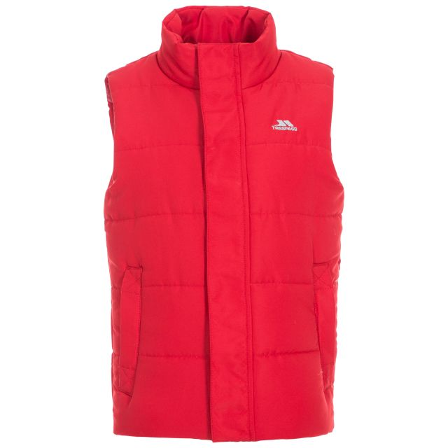 Startling Kids' Padded Gilet in Red