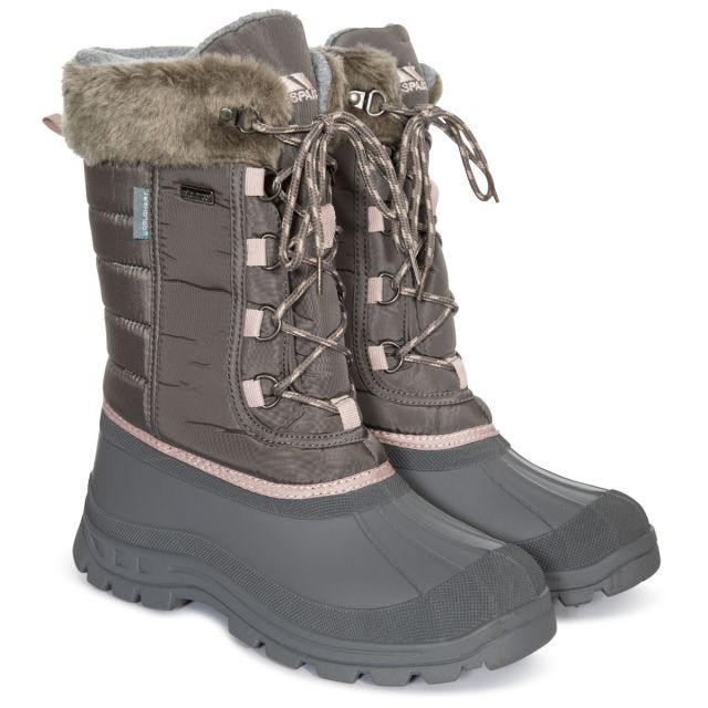 Stavra II Women's Insulated Waterproof Snow Boots in Grey