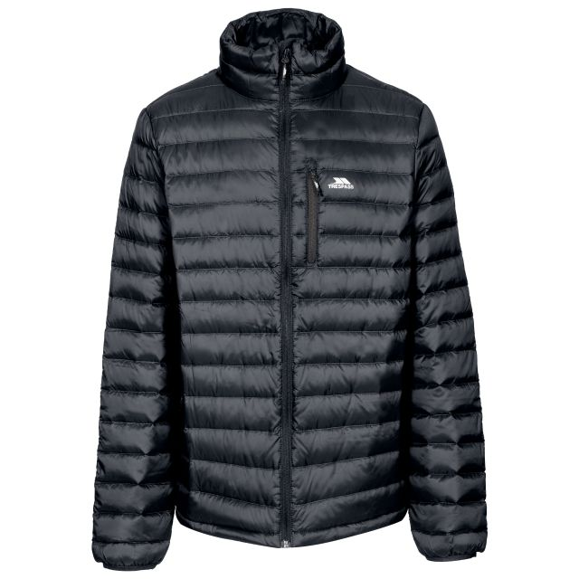 Stellan Men's Lightweight Down Jacket in Black