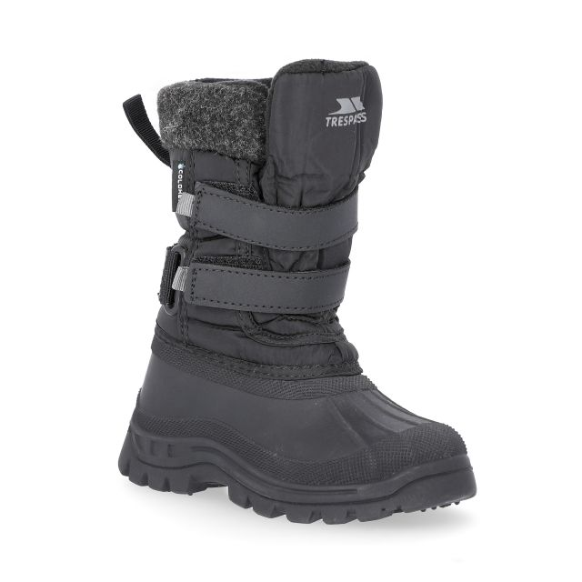 Strachan II Kids' Waterproof Snow Boots in Black