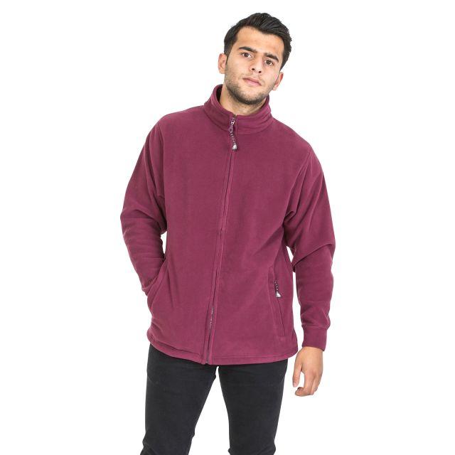 Strength Men's Fleece Jacket in Burgundy