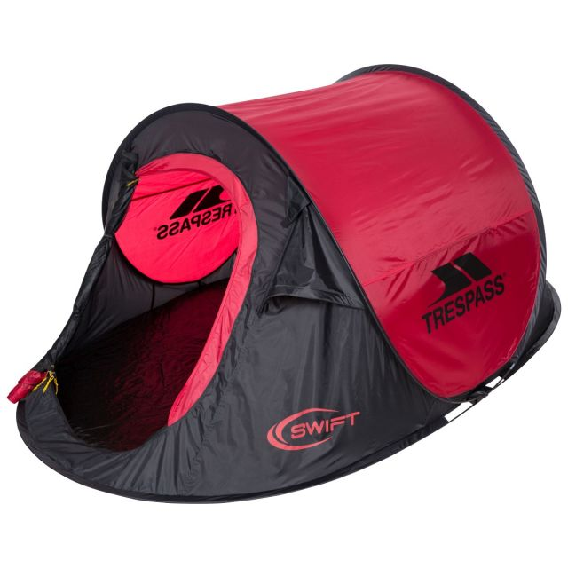 Swift2 Red Waterproof 2 Man Pop Up Tent in Red, Tent detail