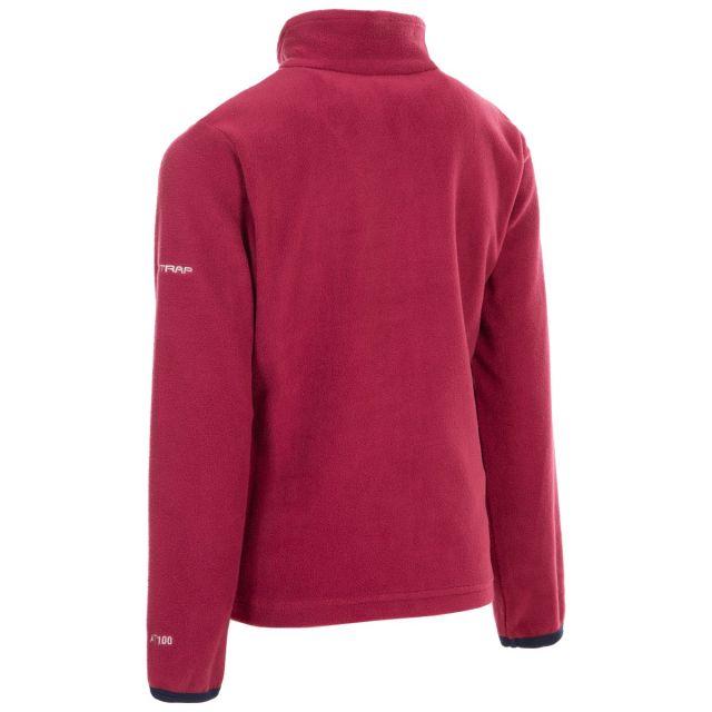 Trespass Kids Half Zip Fleece in Red Sybil