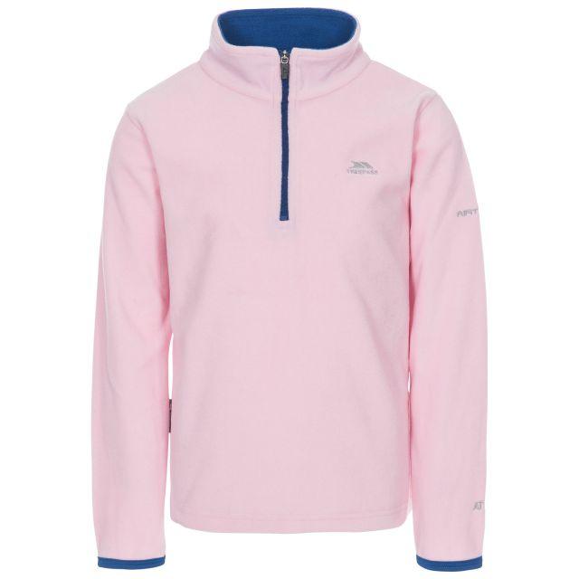 Sybil Kids' Half Zip Fleece in Light Pink