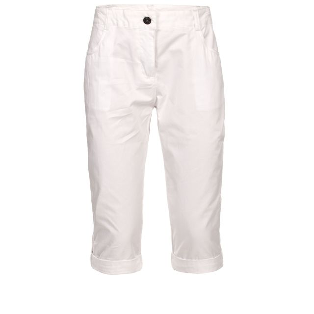 TALES Womens 3/4 length trousers in White