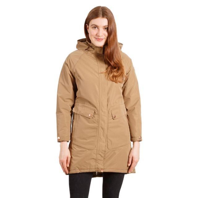 Tamara Women's Padded Waterproof Jacket in Fudge