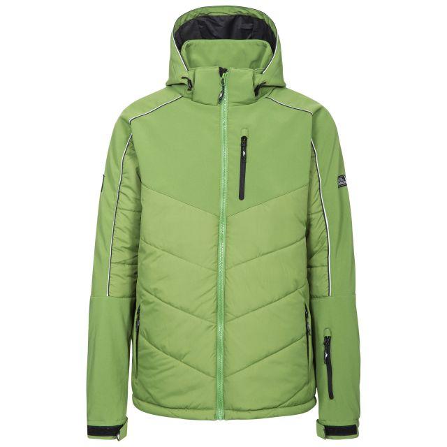 Taran Men's Comfort Stretch Windproof Ski Jacket in Green