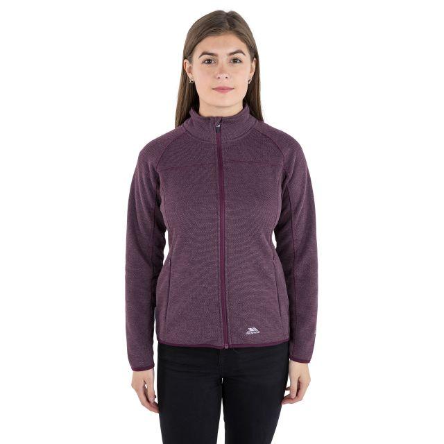 Tenbury Women's Fleece in Purple, Front view on model
