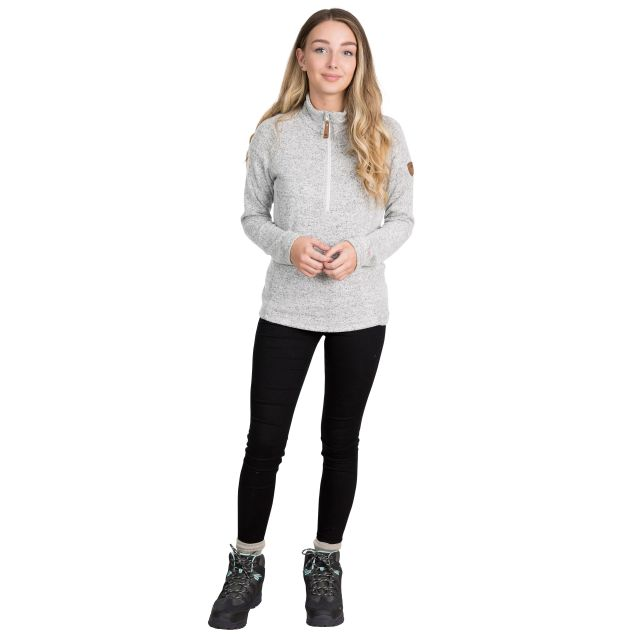 Tenderness Women's 1/2 Zip Fleece in Light Grey