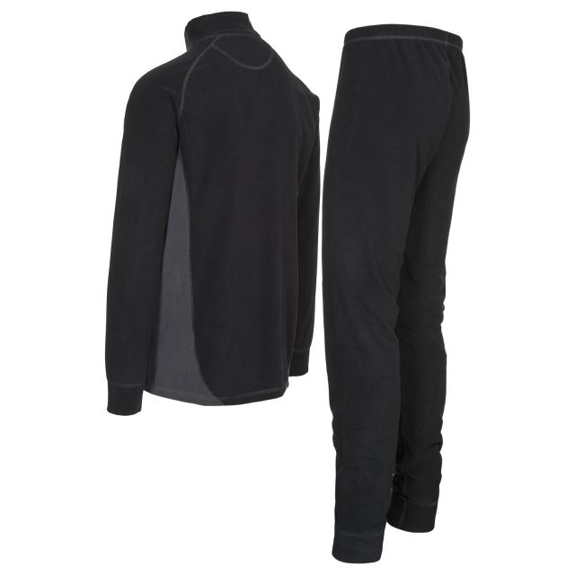 Trespass Adults Thermal Set in Black Thriller