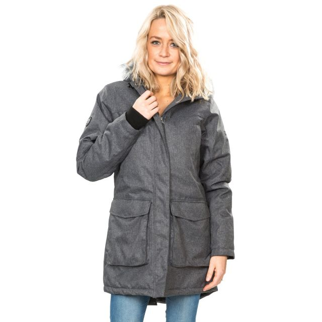 Thundery Women's Waterproof Parka Jacket in Grey