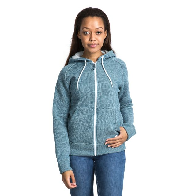 Thurman Women's Fleece Hoodie in Blue