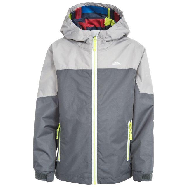 Tiebreaker Kids' Waterproof Jacket in Grey