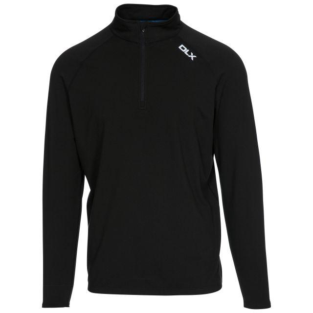 Tierney Men's DLX Active Top in Black, Front view on mannequin