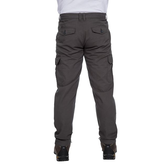 Tipner Men's Cargo Trousers in Grey