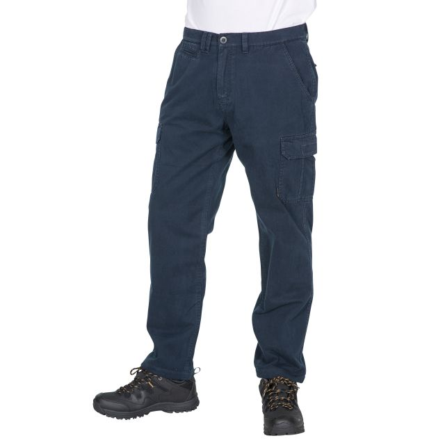 Tipner Men's Thermal Cargo Trousers in Navy