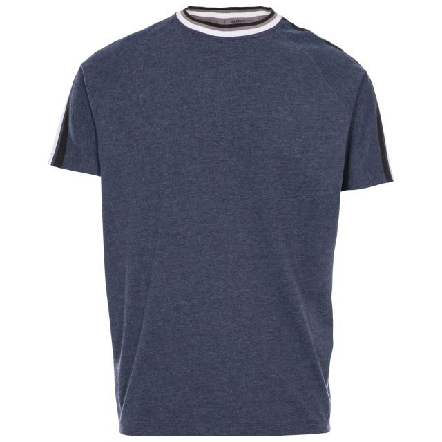 Tipping Tee Men's Active T-Shirt in Navy, Front view on mannequin