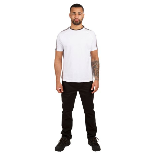 Tipping Tee Men's Active T-Shirt in White