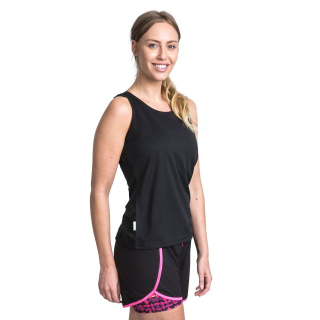 Tissy Women's Sleeveless Active T-Shirt in Black