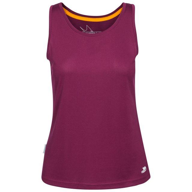 Tissy Women's Sleeveless Active T-Shirt in Burgundy