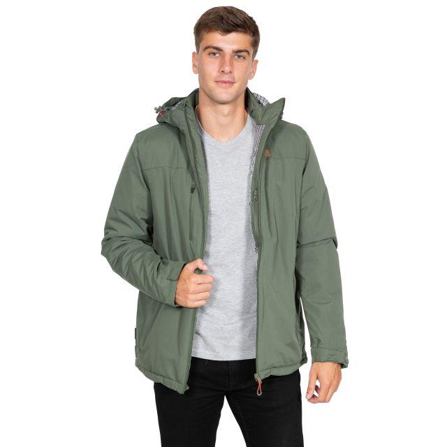 Toffit Men's Hooded Waterproof Jacket in Green