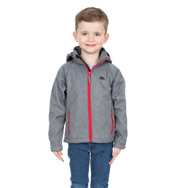 Tommaso Kids' Softshell Jacket in Grey
