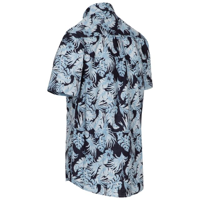Torcross Men's Printed Shirt in Navy