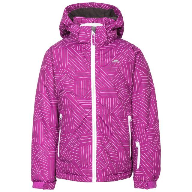 Touchline Girls' Insulated Patterned Ski Jacket