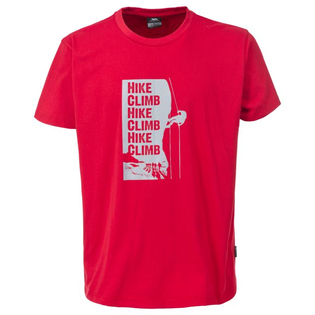 Tramore Mens Printed Casual T-Shirt in Red
