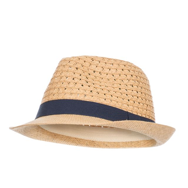 Trilby Adults' Straw Hat, Hat at angled view