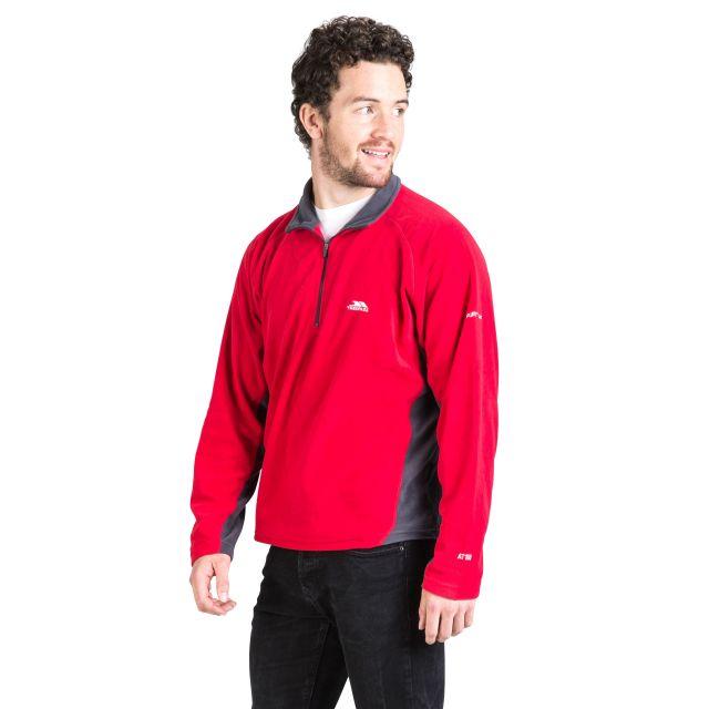 Tron Men's 1/2 Zip Microfleece in Red