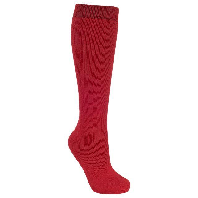 Tubular Adults' Tube Socks in Red