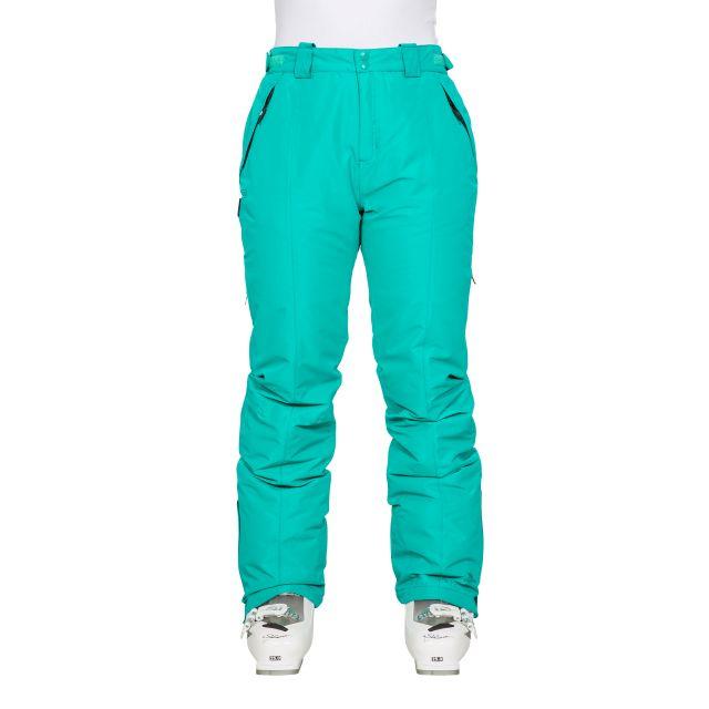 Tullow Women's Padded Waterproof Ski Trousers in Green